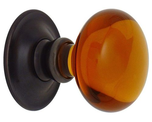 amber glass door knobs photo - 15