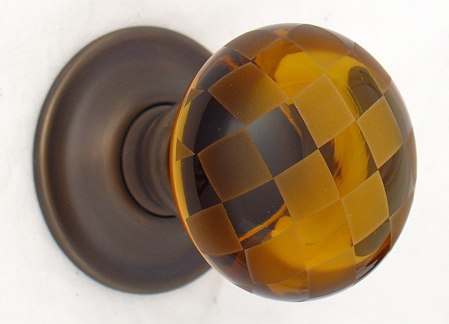 amber glass door knobs photo - 3