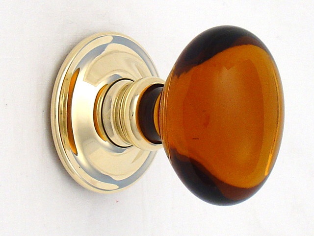 amber glass door knobs photo - 4