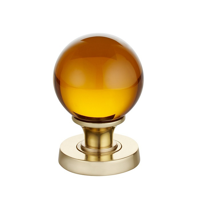 amber glass door knobs photo - 5