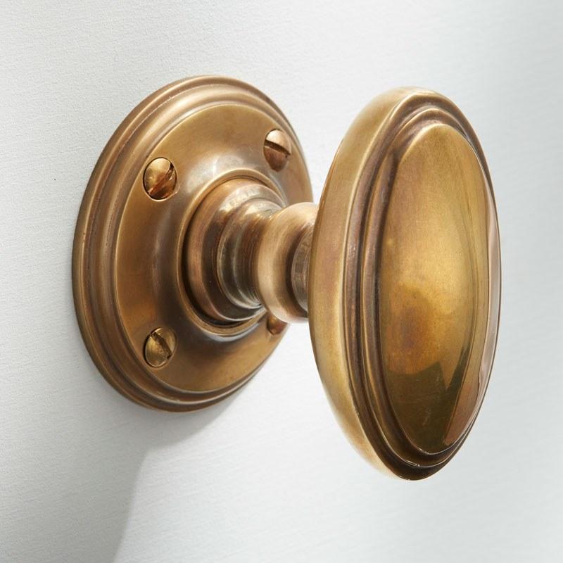 antique brass door knob photo - 4