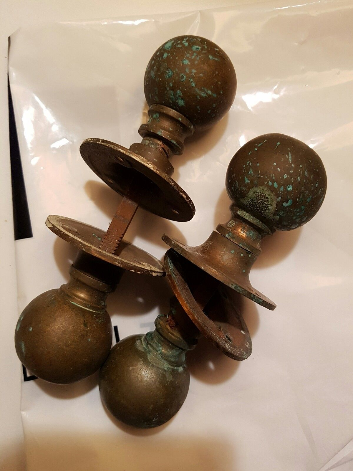 antique copper door knobs photo - 19