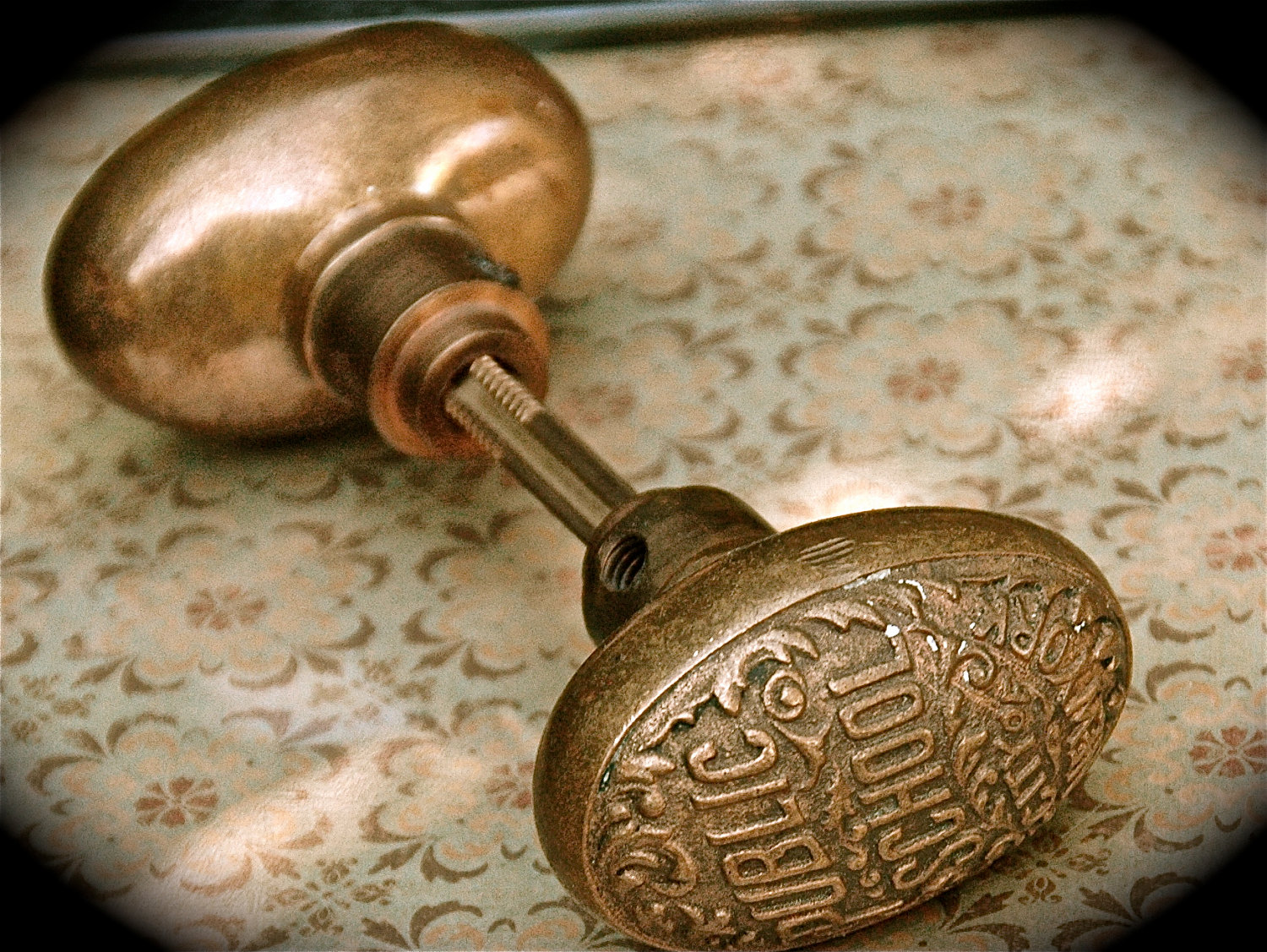 antique door knob photo - 1