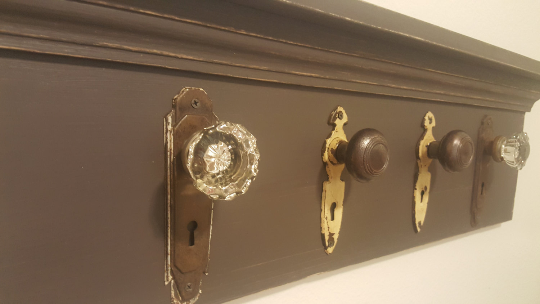 Antique Door Knob Coat Rack Photo   4