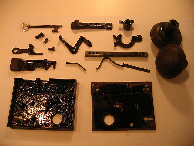 antique door knob parts photo - 14