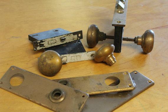 antique door knob parts photo - 18
