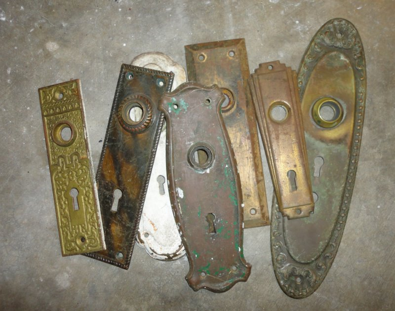 antique door knob parts photo - 19