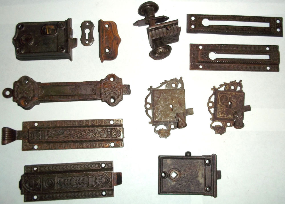 antique door knob parts photo - 9