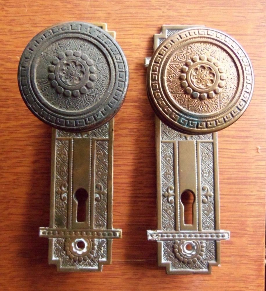 antique door knob plates photo - 17