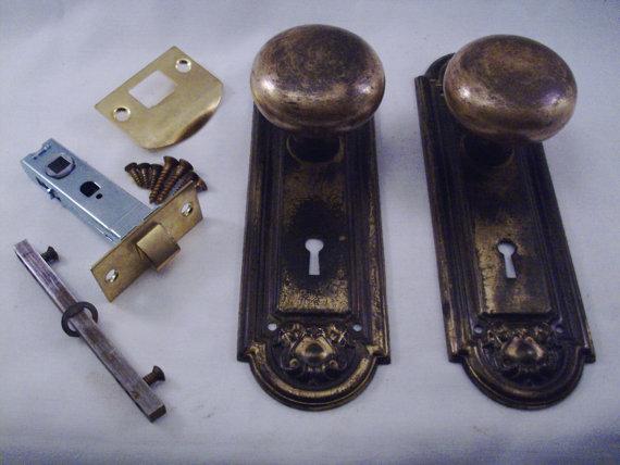 antique door knob sets photo - 15