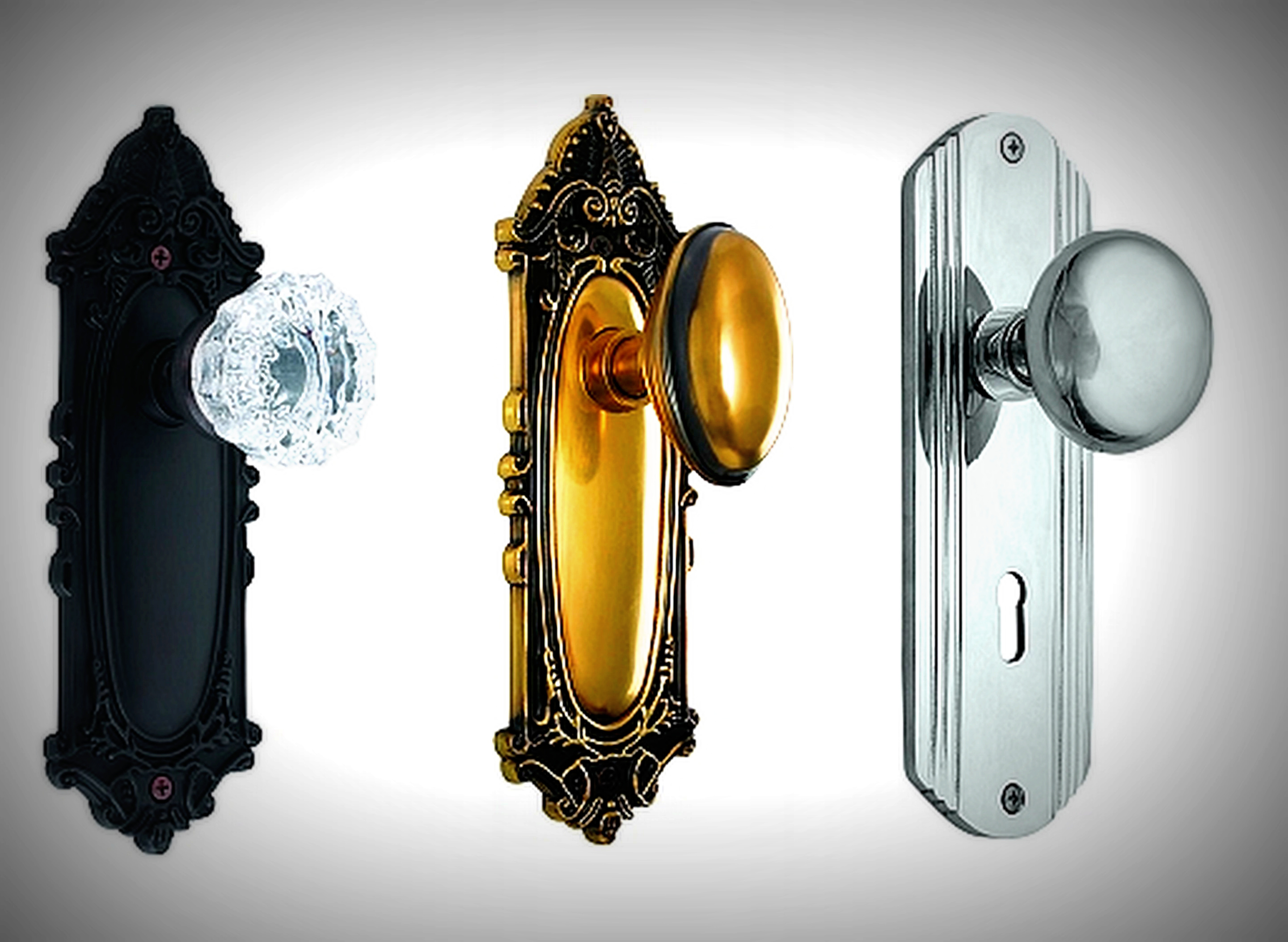 antique door knobs and hardware photo - 16