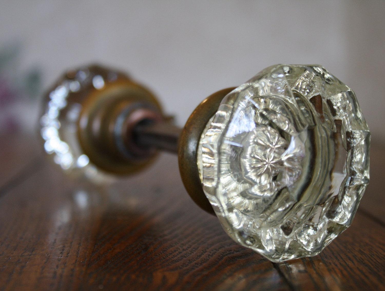 antique door knobs glass photo - 15