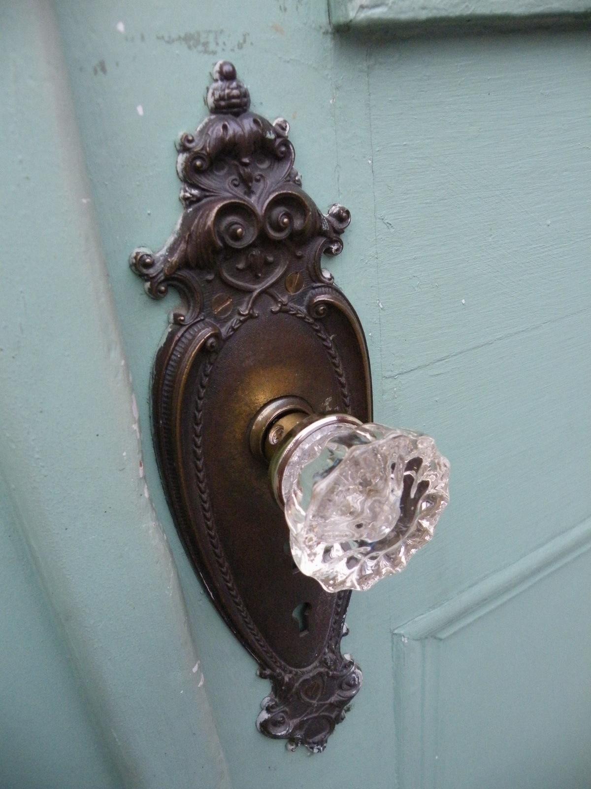 antique door knobs glass photo - 19