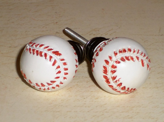 baseball door knobs photo - 12