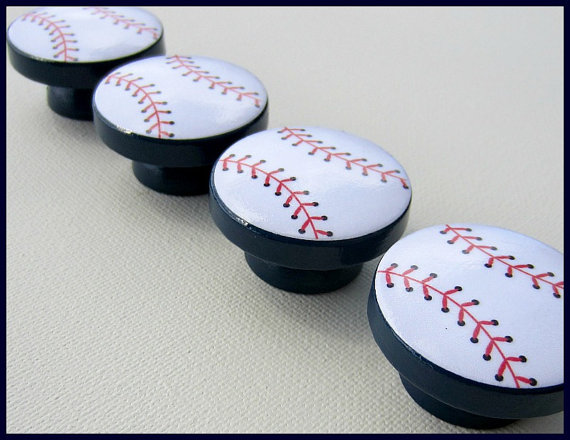 baseball door knobs photo - 6