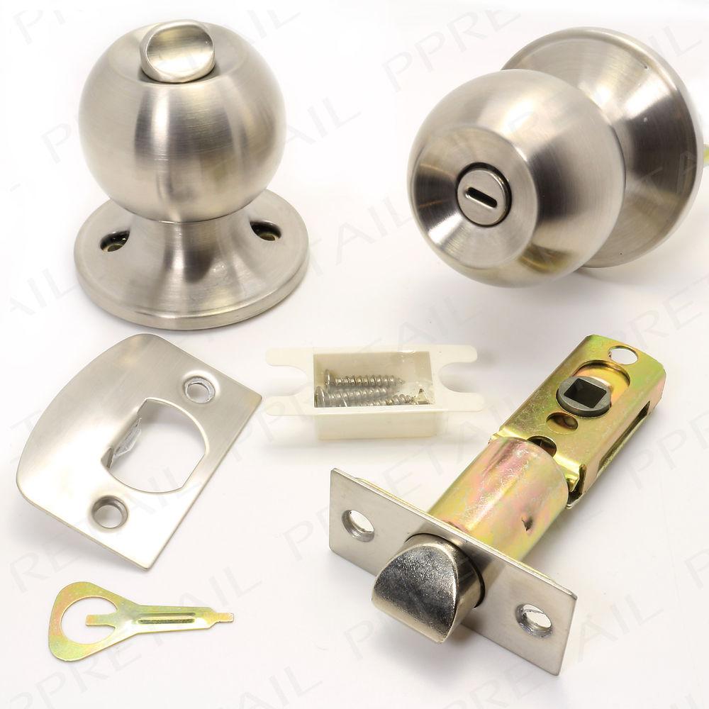 bathroom door knob with lock photo - 13