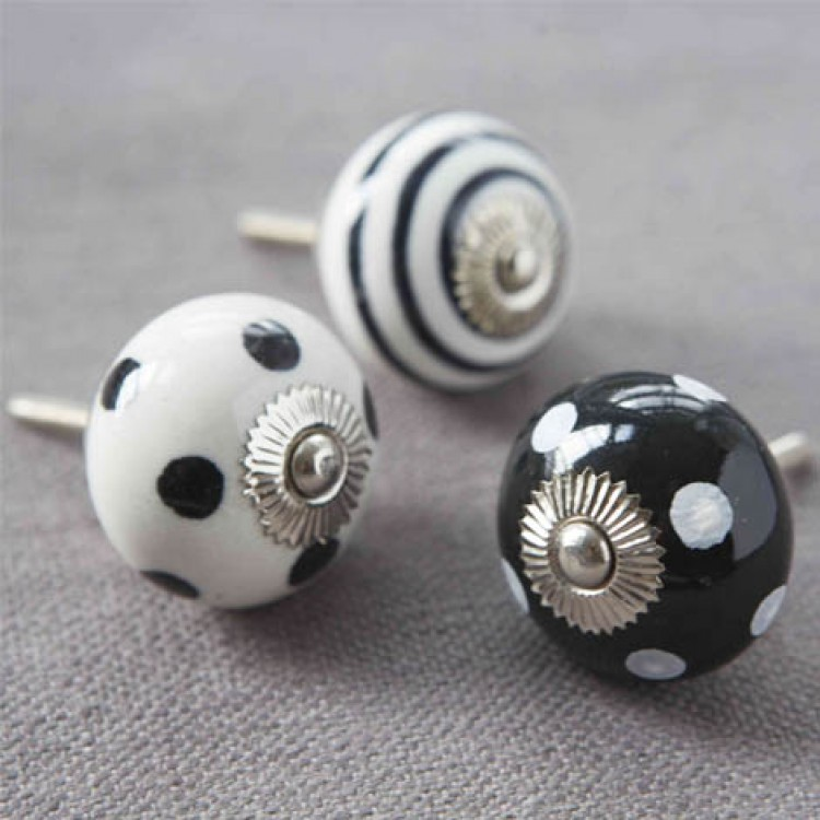 black ceramic door knobs photo - 10