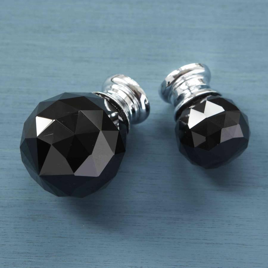 black crystal door knobs photo - 11