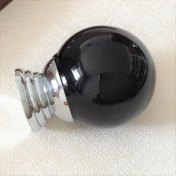 black crystal door knobs photo - 12