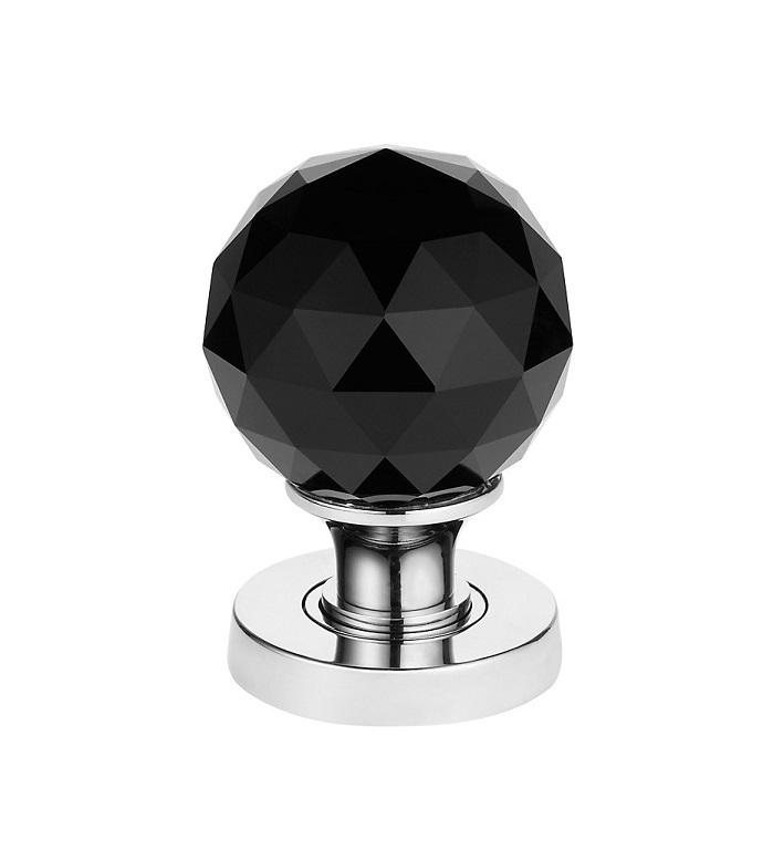 black crystal door knobs photo - 19