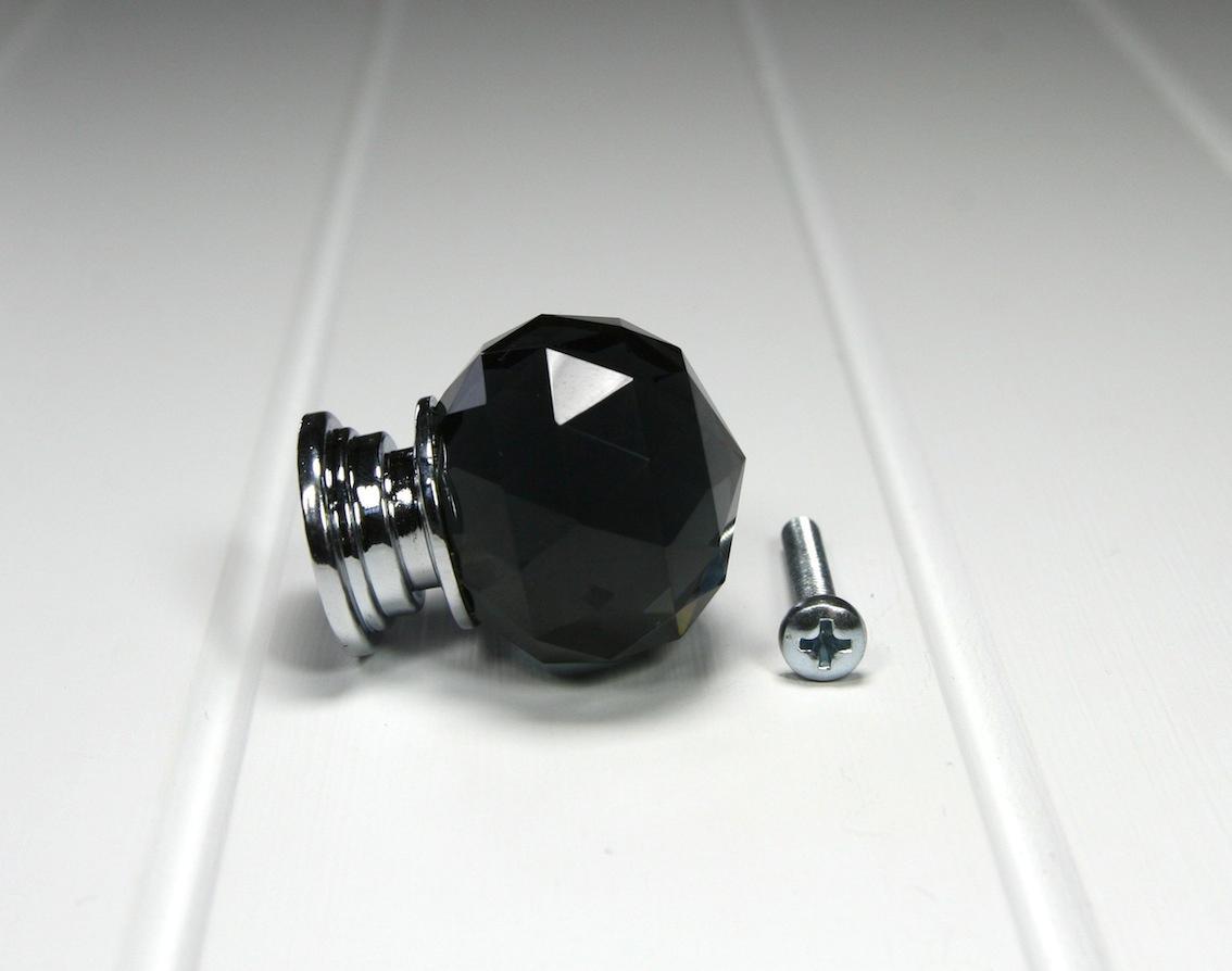 black crystal door knobs photo - 2