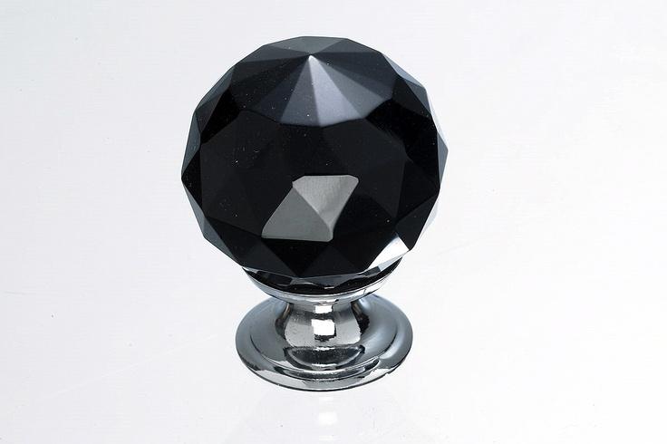 black crystal door knobs photo - 7