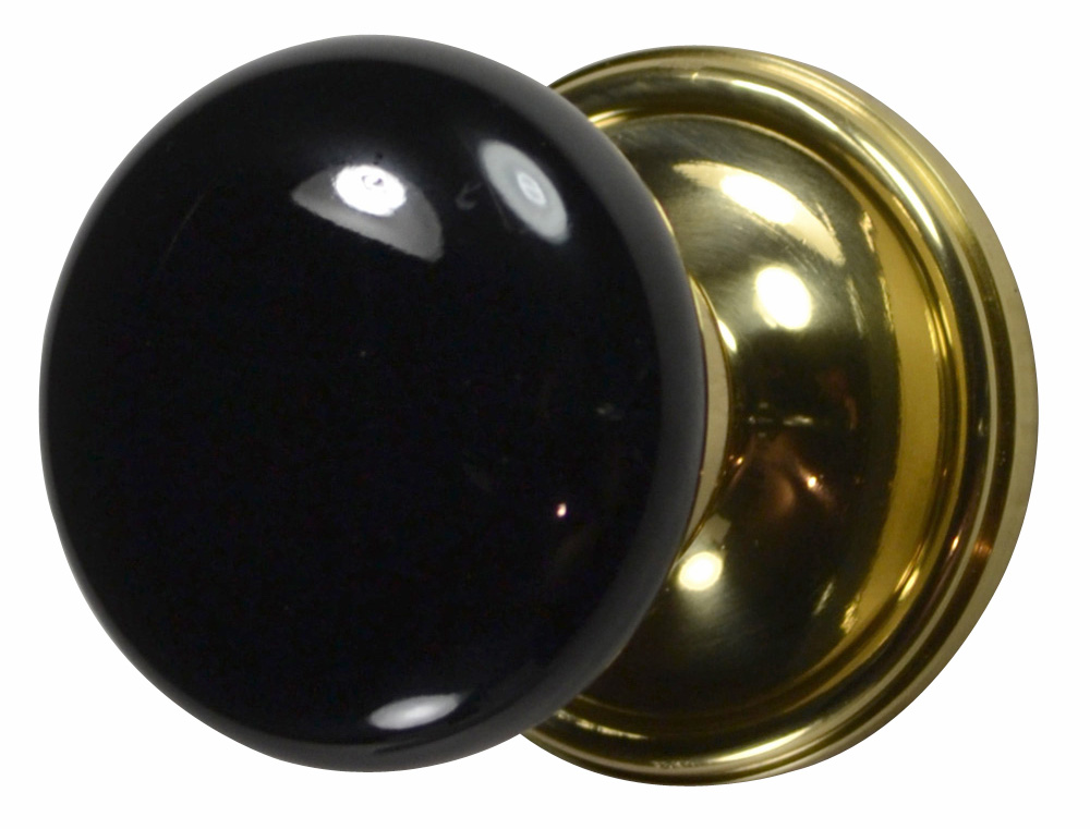 black door knob photo - 11