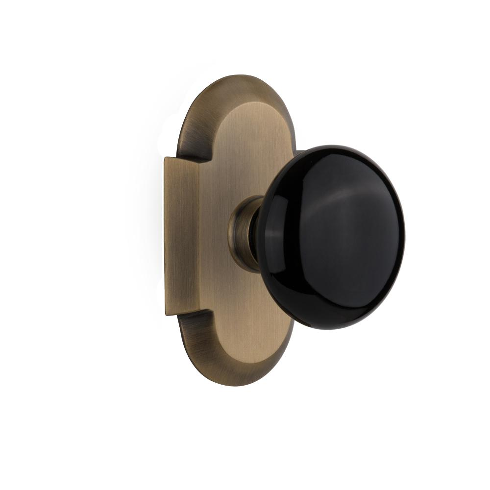 black door knob photo - 14