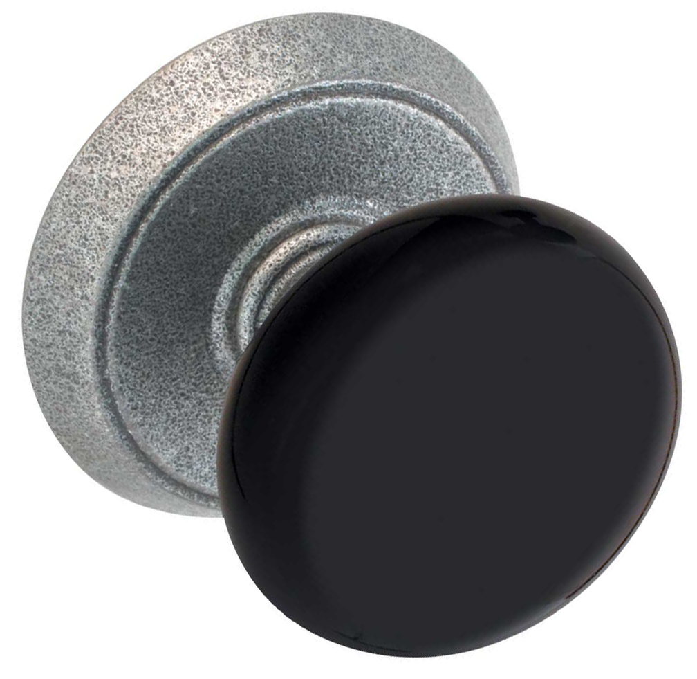 black door knobs photo - 1