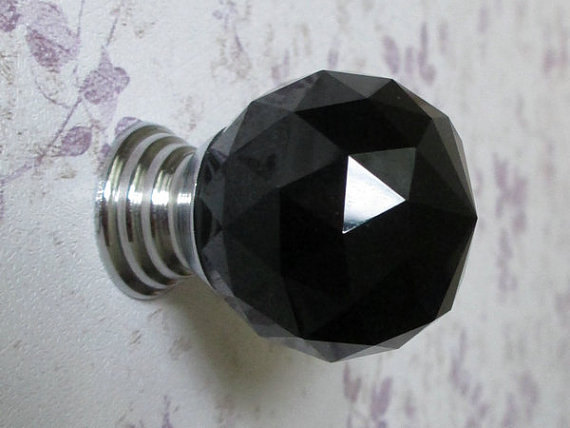 black glass door knobs photo - 11