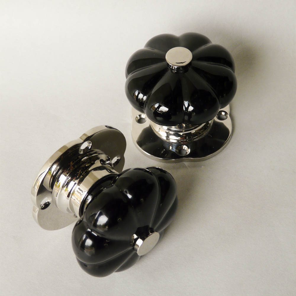 black glass door knobs photo - 14