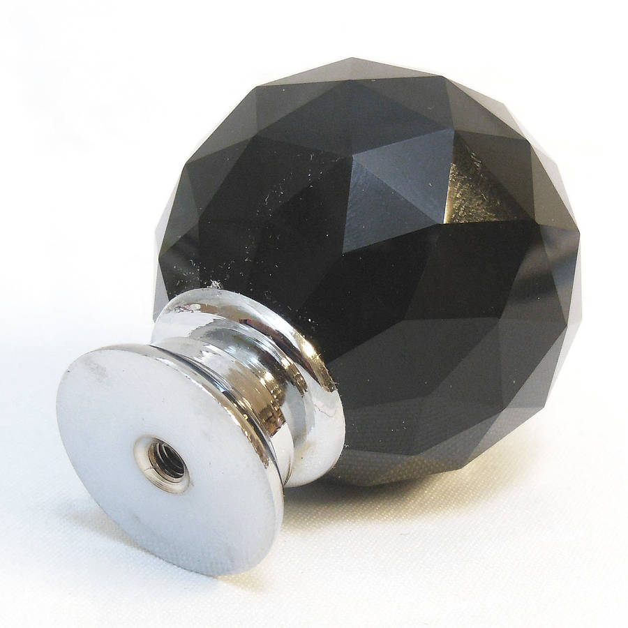 black glass door knobs photo - 7