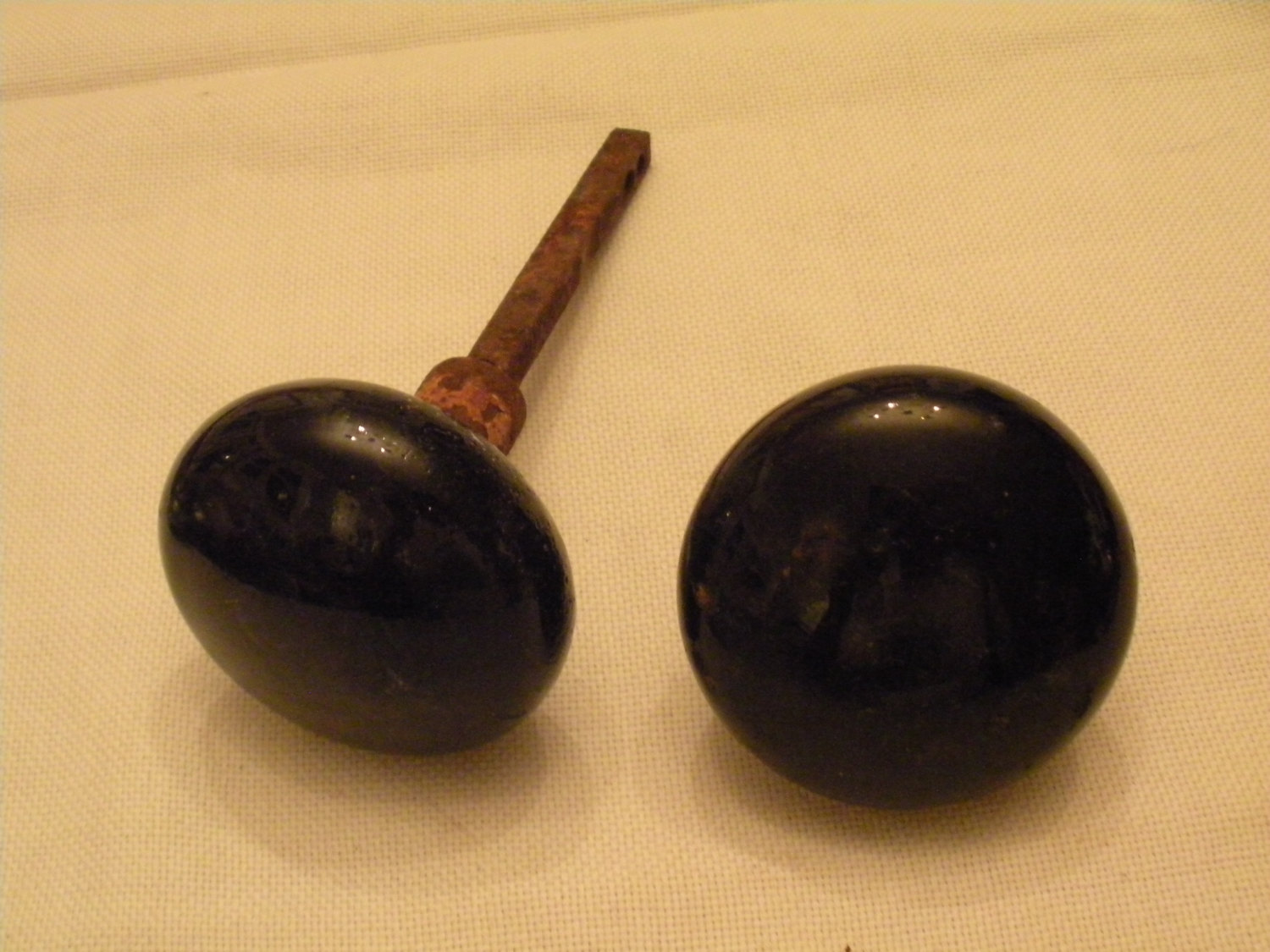black glass door knobs photo - 8