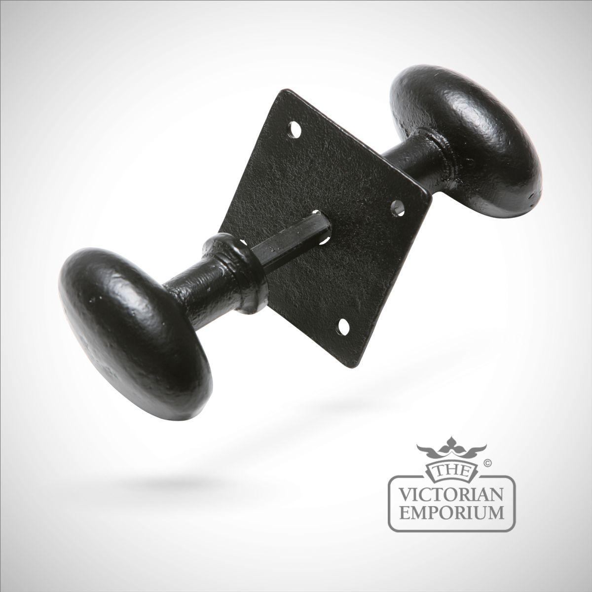 black iron door knobs photo - 6