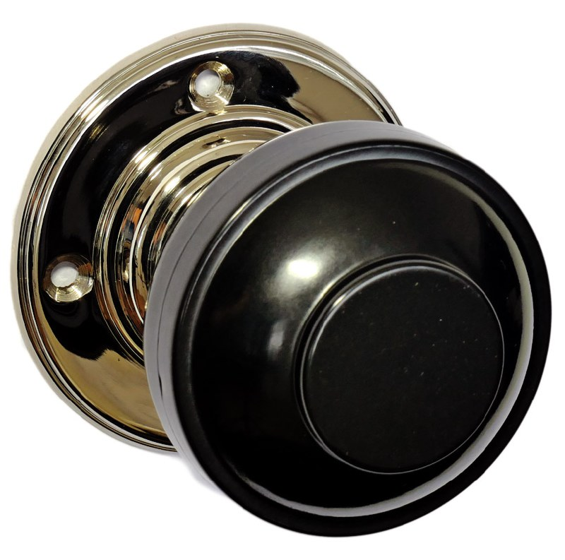 black nickel door knobs photo - 3