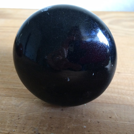 black porcelain door knobs photo - 12