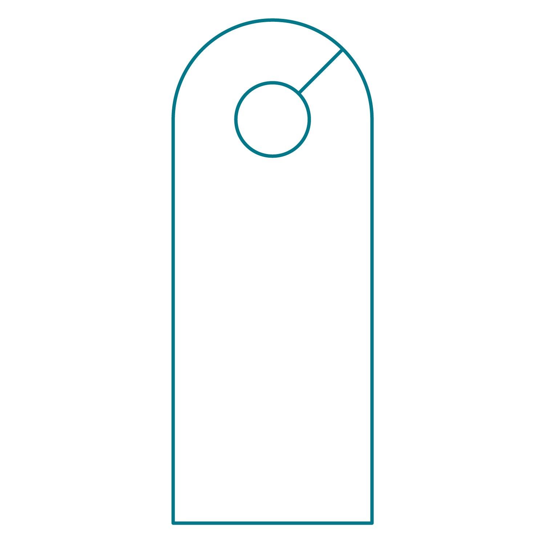 blank door knob hangers photo - 7