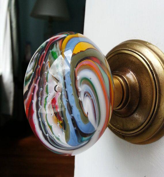 blown glass door knobs photo - 18