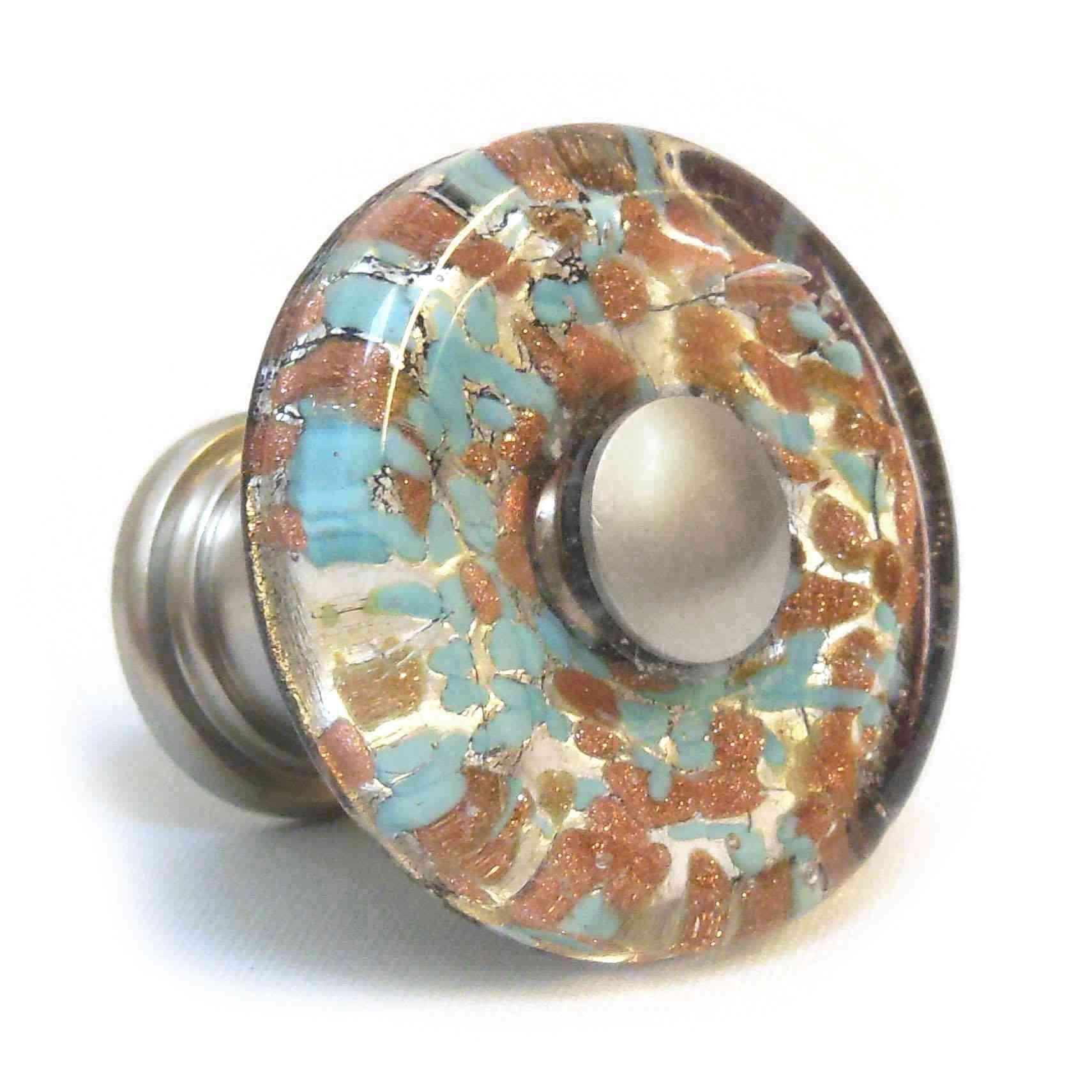 blown glass door knobs photo - 2
