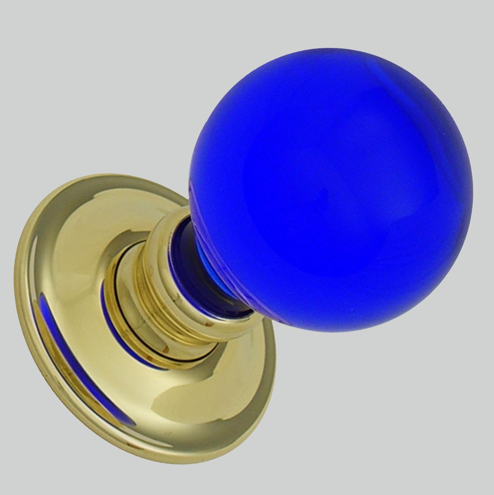 blue door knob photo - 15