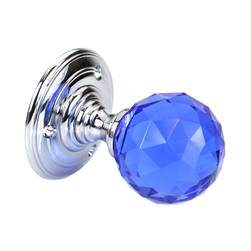blue glass door knob photo - 7