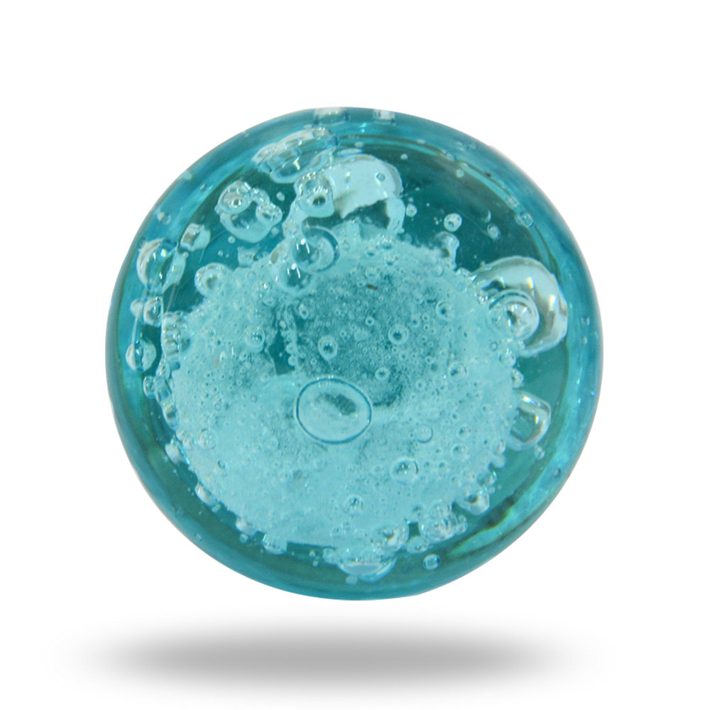blue glass door knobs photo - 1