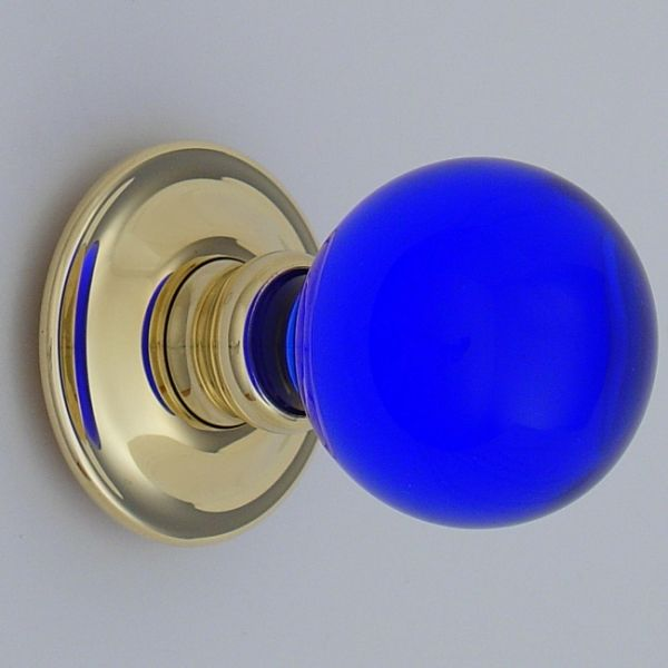 blue glass door knobs photo - 7