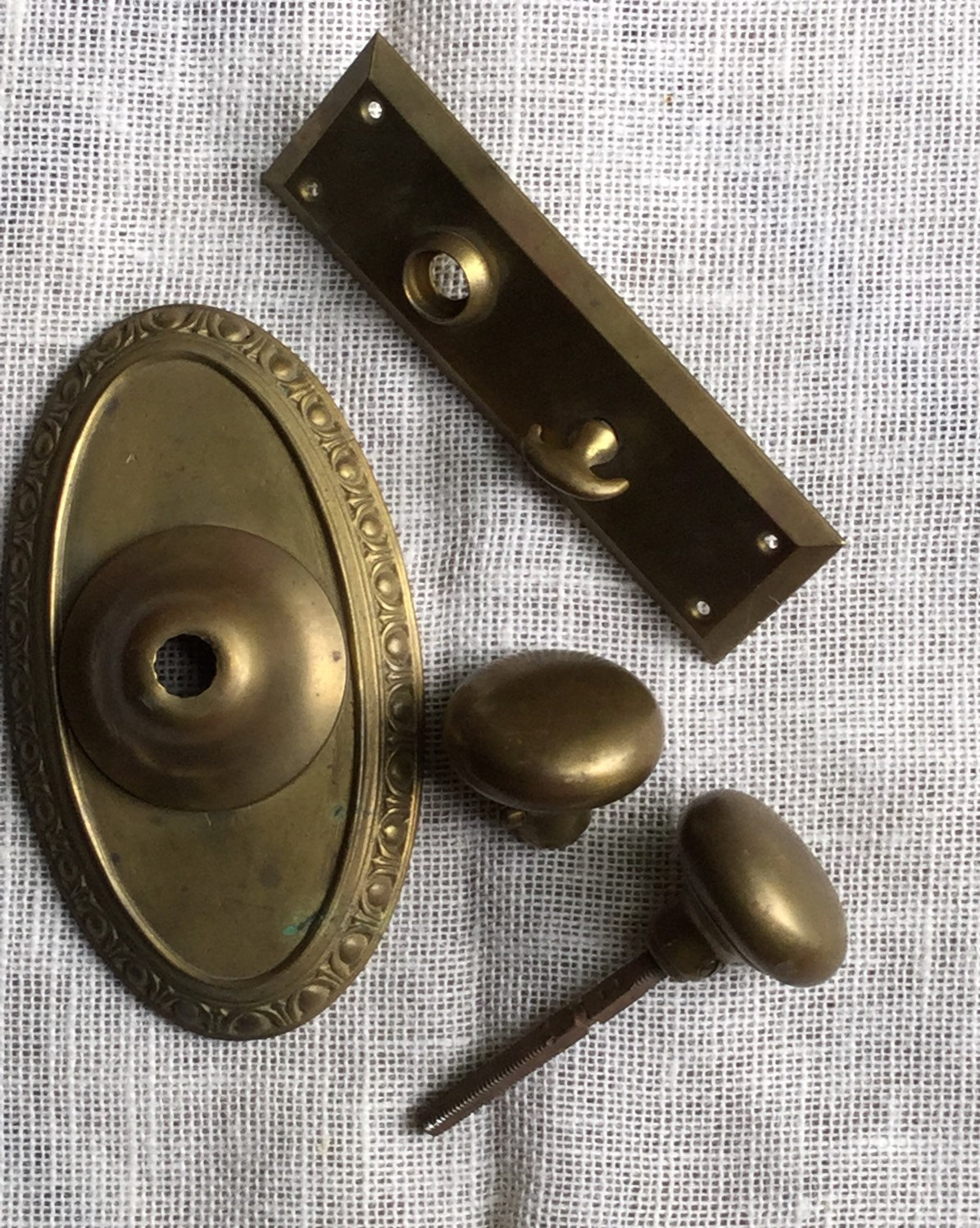 brass door knob plate photo - 4