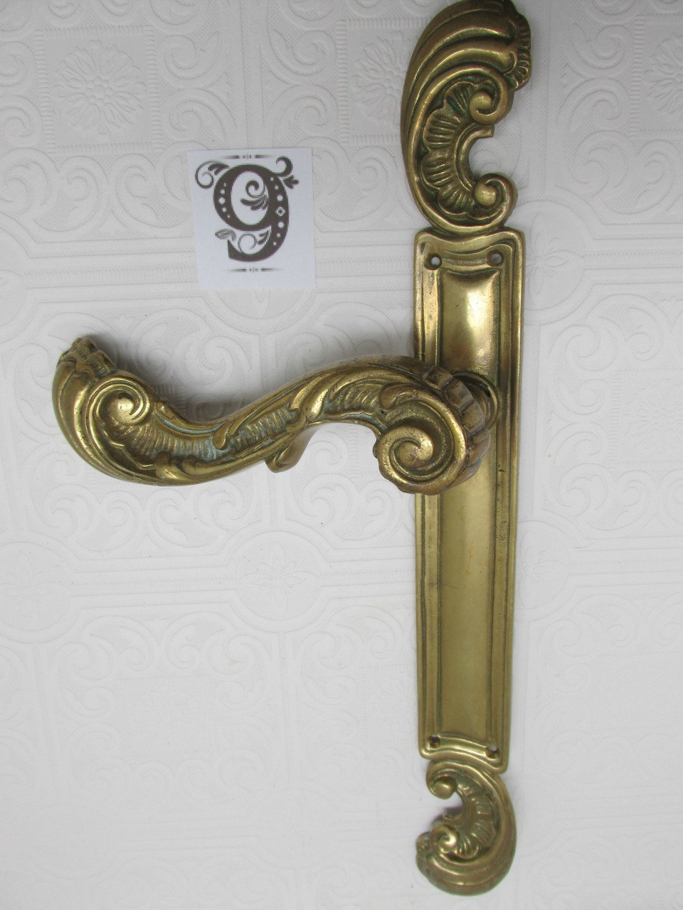 brass door knob plate photo - 7