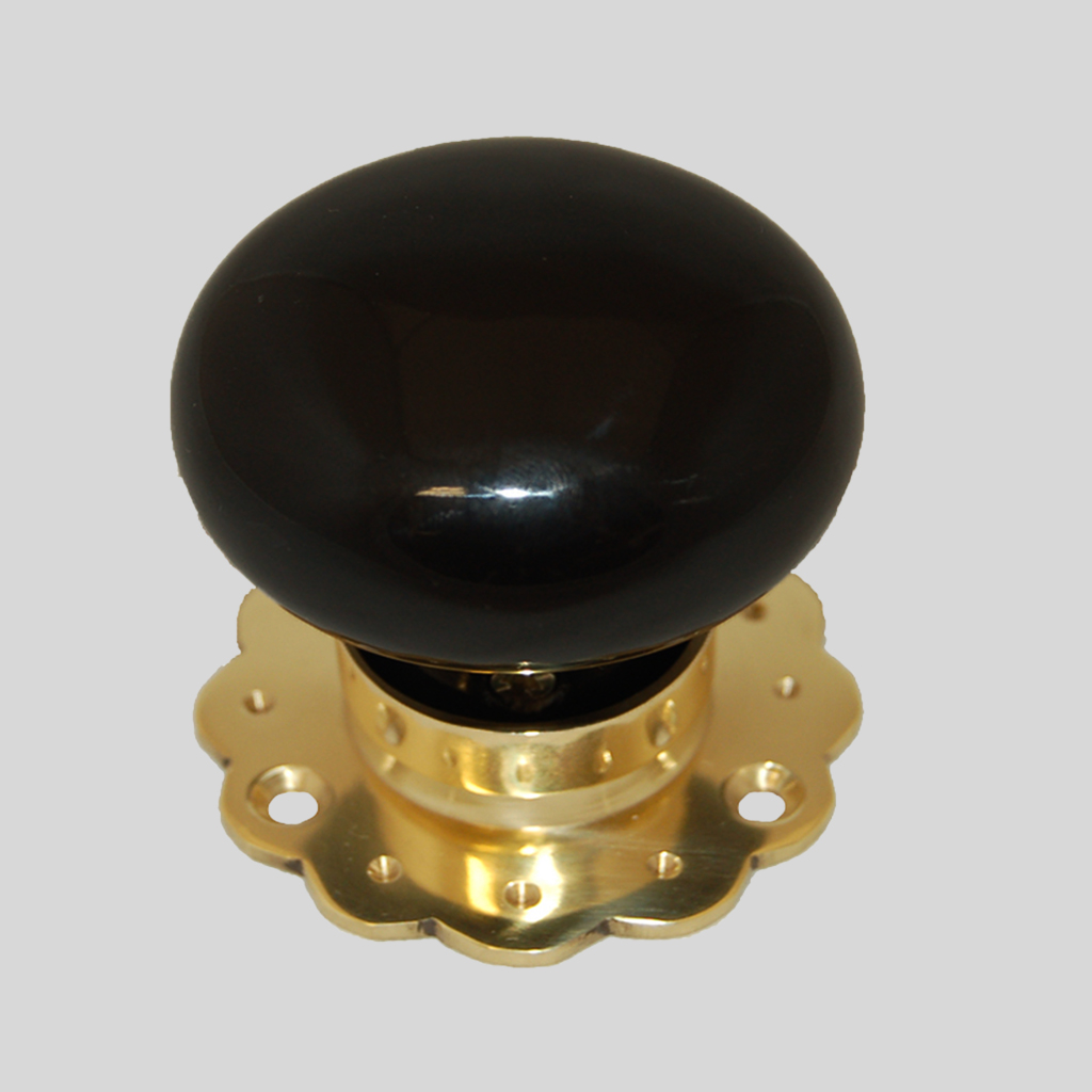 brass door knobs with backplate photo - 18
