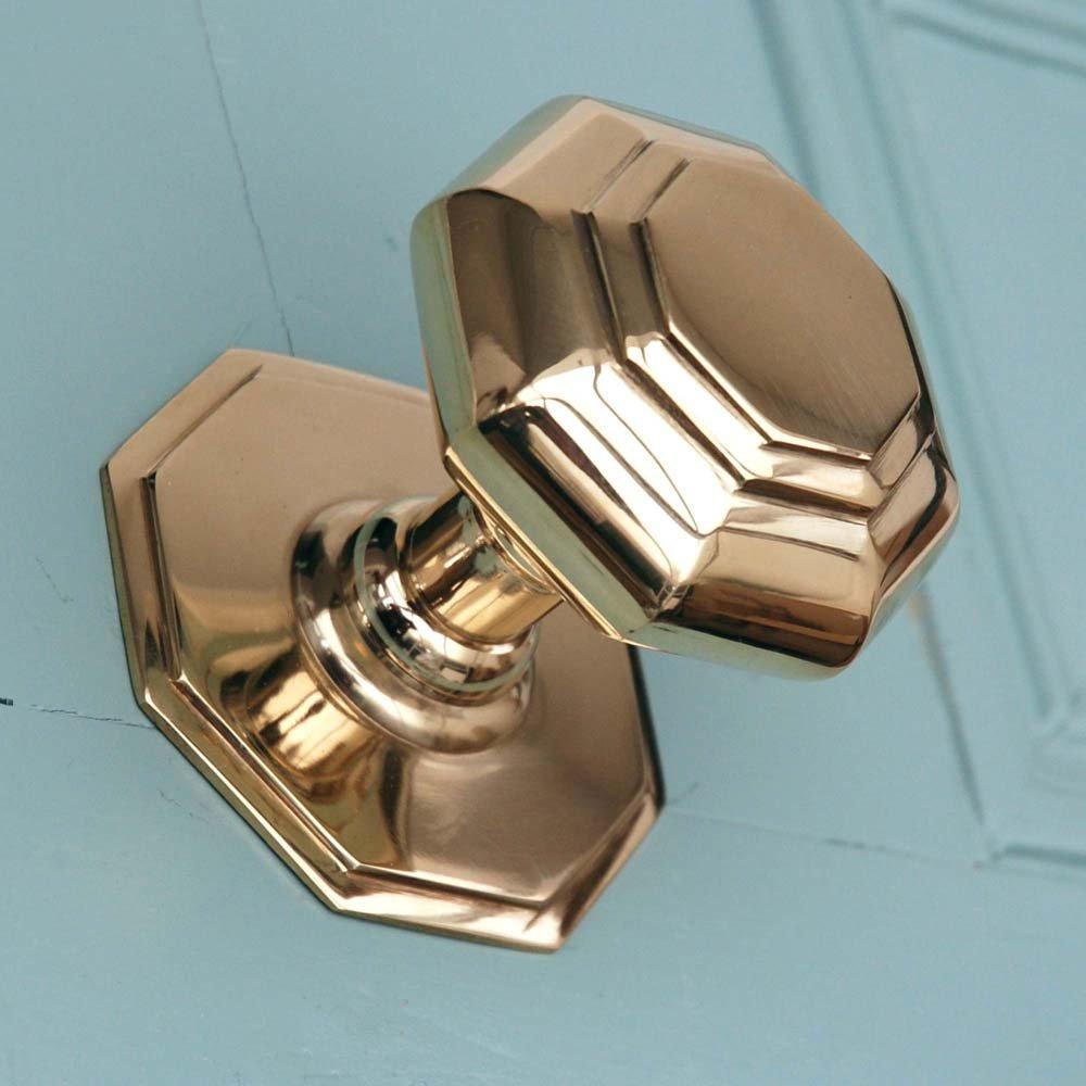 brass front door knob photo - 9