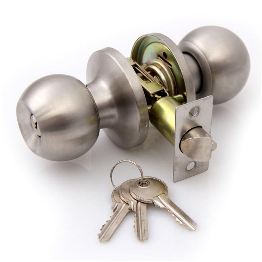 brushed chrome door knobs photo - 12