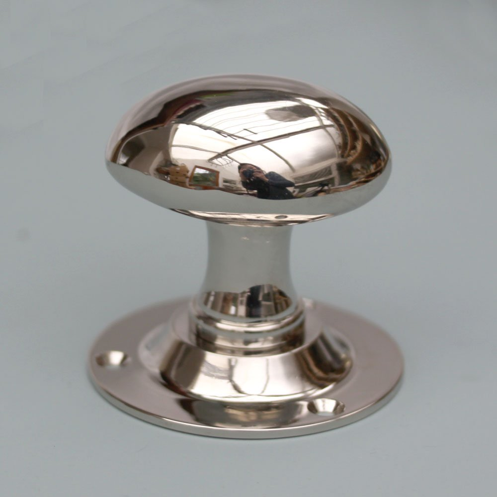 brushed nickel interior door knobs photo - 1