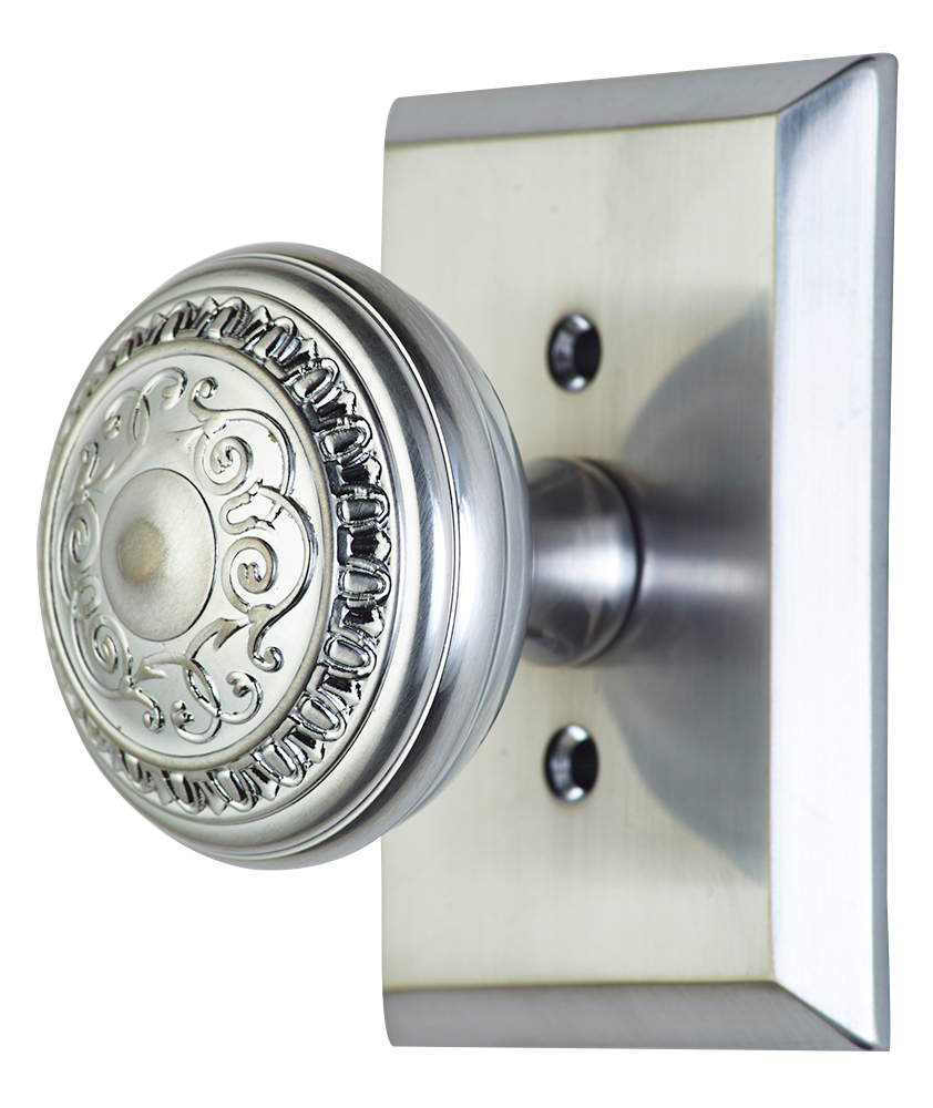 brushed nickel interior door knobs photo - 8